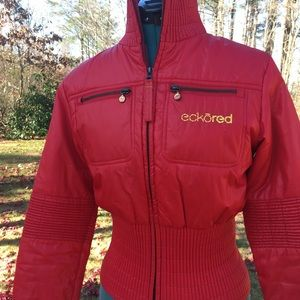 Vintage ECKO RED by Mark Ecko Red Fitted Puffer